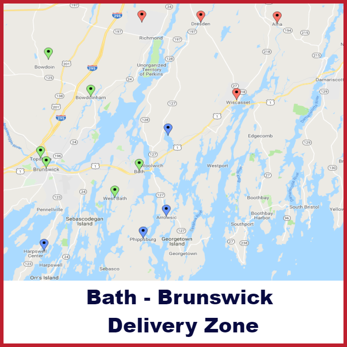 Bath Brunswick Heating oil delivery map