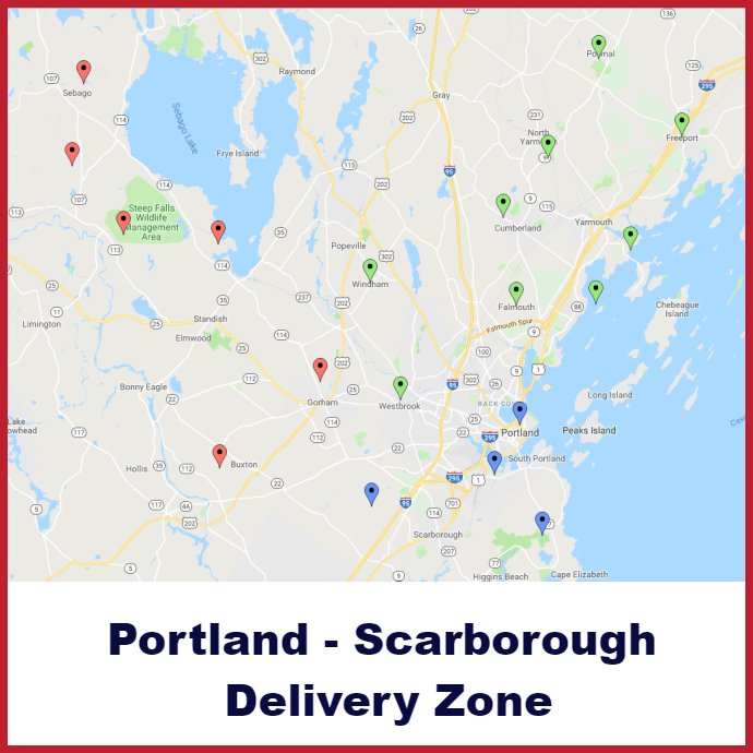 Portland Scarborough Heating oil delivery map