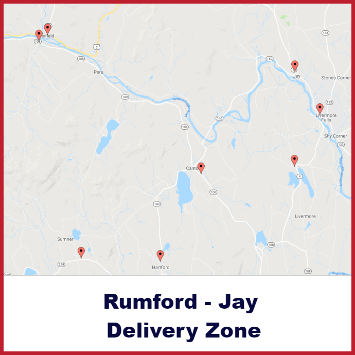 Rumford - Jay Heating oil delivery map